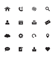 black simple flat icon set 1 vector image vector image