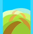 boundless meadows with path summer landscape vector image