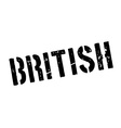 British rubber stamp vector image