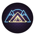 camping neon concept vector image