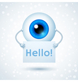 Cartoon Cyber Eye vector image