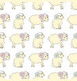 cartoon sheep seamless wallpaper vector image vector image
