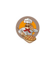 chef pizza forno logo vector image