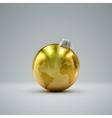 Christmas golden ball Holiday vector image