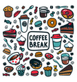 coffee break concept time for a coffee break vector image