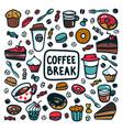 coffee break concept time for a coffee break vector image vector image