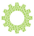 cog composition of flora plant icons vector image