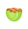colorful icon of mini baked apple pie delicious vector image