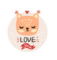 cute cartoon squirrel face vector image vector image