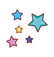 cute stars group icons vector image vector image