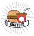 delicious burger isolated icon design vector image