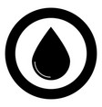 drop icon black color in circle vector image vector image