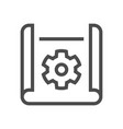 engineering drawing icon vector image