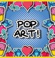 fachion pop art patch background design vector image