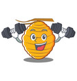 fitness bee hive character cartoon vector image