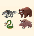 funny angry forest animals vector image vector image