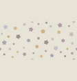 funny baby seamless star pattern vector image vector image
