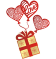 Gift love balloon vector image