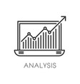 graphic in laptop business analysis and vector image