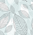 graphic texture of the leaves vector image vector image