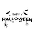 happy halloween bats spiders white background vect vector image vector image