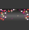happy valentines day cap for postcards or site vector image