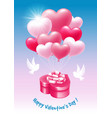 happy valentines day greeting vector image