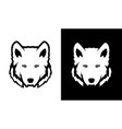 head of wolf in black and white colors vector image