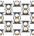 Hourglass or sandglass seamless pattern vector image vector image