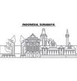 indonesia surabaya line skyline vector image