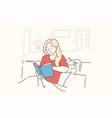 leisure lifestyle nostalgically learning vector image