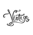 lettering word vintage vector image vector image
