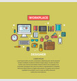 linear workspace for designer vector image