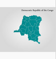 map democratic republic congo vector image vector image