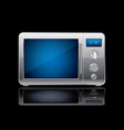 microwave stove vector image vector image