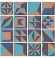 modern geometric tiles set design element vector image vector image