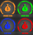 Money bag icon sign Fashionable modern style In vector image vector image