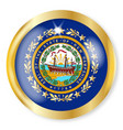 new hampshire flag button vector image vector image