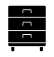office drawer solid icon storage vector image
