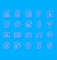 online shop simple paper cut icons set vector image