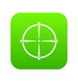 paintball gun sight icon green vector image vector image