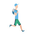 running man in flat design style sport vector image