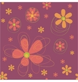 Seamless background with funky flowers vector image vector image
