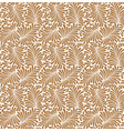 seamless plants leaves pattern flowers vector image vector image
