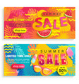 set summer sale banners flyers vector image vector image