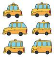 set taxi vector image vector image