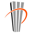 skyscraper symbol vector image vector image