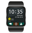 Smartwatch home screen vector image vector image