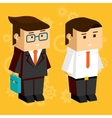 Square businessmen vector image vector image