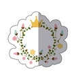 sticker colorful ornament creepers with flowers vector image vector image